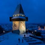 Schlossberg_Uhrturm_Winter (c) Graz Tourismus - Harry Schiffer